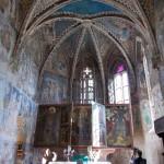 Almakerék későgótikus festett templomszentélye
